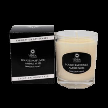 Bougie parfumée Ambre noir 130g