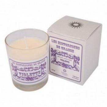 Bougie parfumée Violette 130g - Les Historiques de Grasse