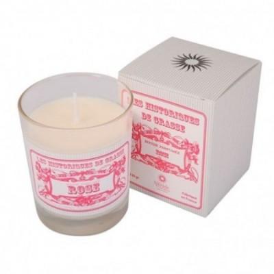 Bougie parfumée Rose 130g - Les Historiques de Grasse