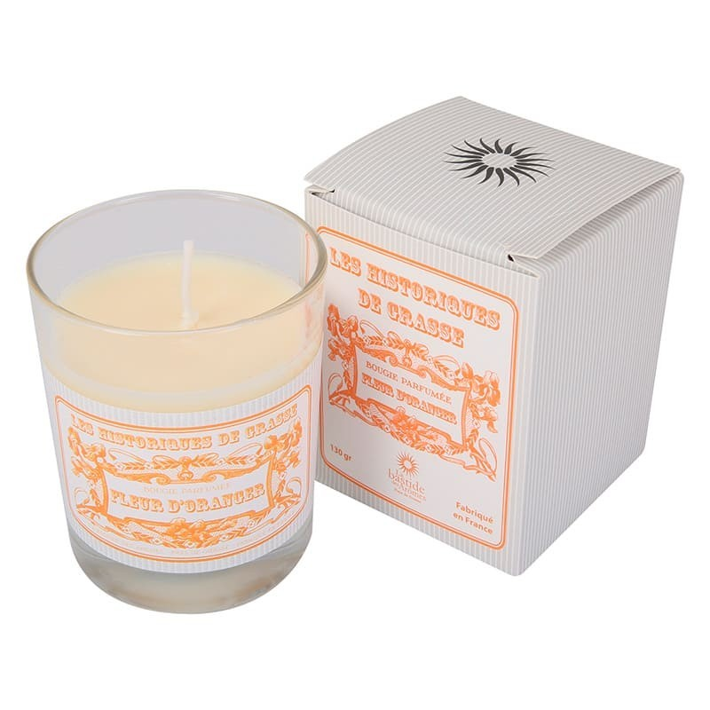 Bougie parfumée Fleur d'oranger 130g - Les Historiques de Grasse