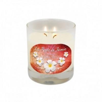 Bougie parfumée Amande Jasmin rouge - La Route du Jasmin