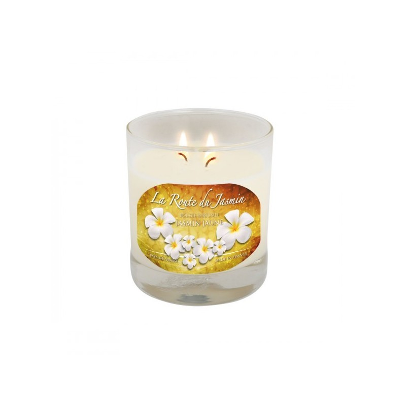 Bougie parfumée Amande Jasmin jaune - La Route du Jasmin