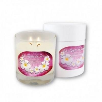 Bougie parfumée Amande Jasmin rose - La Route du Jasmin